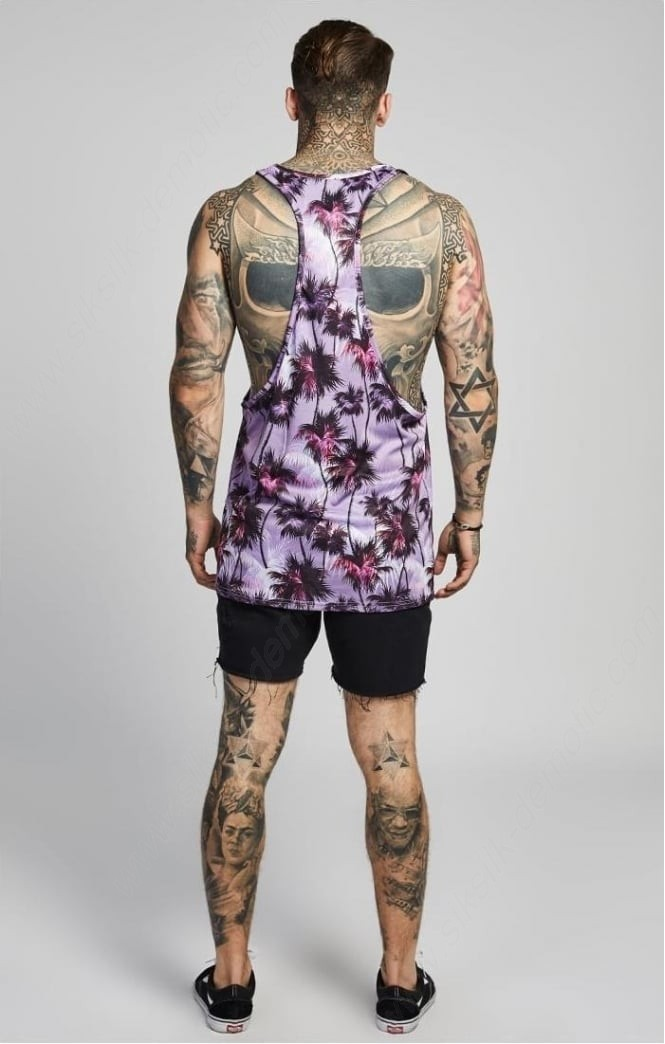 Siksilk Palm Rework Poly Vest – Deep Lilac Men - -2